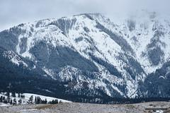 Sepulcher Mountain (kevin-palmer) Tags: montana gardiner electricpeak gallatinrange yellowstone yellowstonenationalpark nationalpark february winter snow cold cloudy overcast sepulchermountain peak nikond750 nikon180mmf28 telephoto snowing wyoming