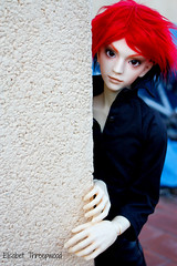 Jitter (Elisabet Threepwood (so busy)) Tags: boy red black ball hair fur photography doll body sd bjd owen joined 13 jitter elisabet threepwood sd17 migidoll