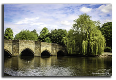 A STROLL DOWN BY THE RIVER (vicki127.) Tags: camera bridge blue trees sky love club clouds digital photoshop river flickr pics walk 4 award adobe cannon bakewell lightroom cs6 650d peakdistrictderbyshire vickiburrows vicki127