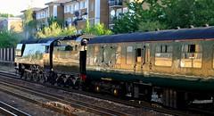 "Steam Locomotive 34067 ""Tangmere"" (standhisround) Tags: london station train track carriage railway steam olympia locomotive preserved tangmere 462 34067 bulleid battleofbritainclass uksteam"