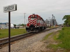 Relieved (Wide Cab) Tags: railroad train adm freight wsor wisconsinsouthern l595 oshkoshdefense oshkoshsub oshkoshcorp archerdanielsmidlandcorporation