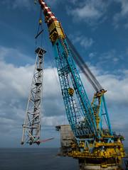 Golden Eagle PUQ flare (thulobaba) Tags: tower golden construction energy eagle crane offshore platform engineering gas jacket northsea flare oil nexen 7000 saipem