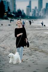 evening stroll (kerriebr) Tags: dog beach dusk walk goldcoast