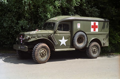 Dodge army ambulance - 1942 (Ronald_H) Tags: usa holiday film 4x4 military ambulance vehicle dodge years 1942 70 dday 2014 wc54 34t am3837