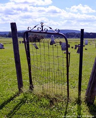 Welcome to... (Ed_PFF) Tags: old cemetery rural fence rust gate rusty tully thechallengegame oldtullycemetery