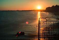 Puesta de sol sobre la base naval de Rota (cives-expat) Tags: sunset españa beach spain playa andalusia anochecer fuentebravía elpuertodesantamaría