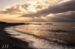 sin ttulo-1179 (Snchez Huelves) Tags: longexposure light sunset sea sky espaa seascape luz nature clouds landscape atardecer spain nikon solitude paisaje murcia cielo minim
