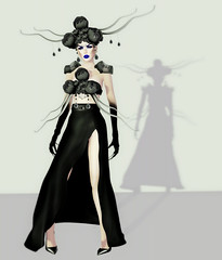 Not Quite Human (Virtual Obsessions Post #33) (*Aisling Caiben*) Tags: old black sexy hair eyes skin sl secondlife virtual demon vo obsessions drd slink cstar loveblack teefy deadapples finesmith deathrowdesigns cstarlimited virtualobsessions faenzo