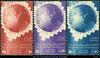 1949, 9. Okt. 75 Jahre Weltpostverein Globus MiNr. 341-343 Ägypten 2717 M