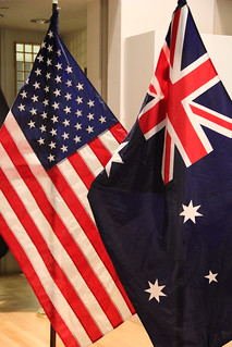 U.S. and Australian Flag