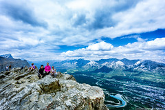 top of the world (fea campos) Tags: sky canada mountains nature clouds canon landscape hiking top alberta canmore canadianrockies
