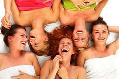 Girls in spa (BeautyPrincess2) Tags: girls friends beautiful beauty smiling female laughing fun women european friendship natural group models poland happiness towel together blond attractive cheerful joyful cosmetics spa girlfriends sauna feminin redhaired nationalities gossiping selfconfident