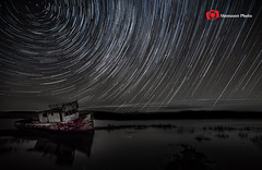 Point Reyes Ship Wreck, CA (S Jha (1M+ Views)) Tags: california pointreyes inverness refelction startrails northstar canon1740mmlusm canon5dmarkiii starstax photoshopcc lightouse5 cmonsoonphoto bshipwreck