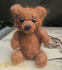 Eldard limited edition needle felted brown bear cub