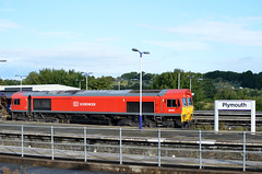 DBS 66001 Working 6C550651 St Blazey to Exeter Riverside (ashthemainman) Tags: china red station st great plymouth first clay exeter western jia dbs blazey fgw 66001class66
