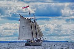 Full Boat (joegeraci364) Tags: ocean wood travel sea vacation sky cloud seascape nature water weather sailboat landscape action horizon vessel sail mast nautical schooner