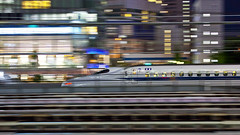 Bullet Train Passing By (DigiPub) Tags: bullettrain shinkansen 新幹線 tokyo 浜松町 blurredmotion g12086401 11474411 p20140709 explore pr20140813 rejected panning panningleft 52708142 istock editorial passingby 52749856 onsale rejectedbygettyimages officebuilding highspeedtrain night colorimage photography horizontal grainy highspeed movingpast minatoward tokyoprefecture outdoors speed