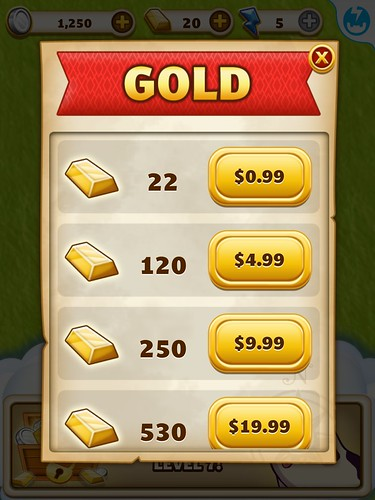 Jewel Mania Virtual currency Bank: screenshots, UI
