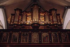 Rinteln, Niedersachsen, Nikolaikirche, organ (groenling) Tags: wood germany de deutschland balcony carving case organ tribune woodcarving orgel nikolaikirche niedersachsen rinteln empore gehuse adolphcompenius