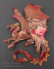 redspineddragon1 (the Blue Kraken) Tags: pin technology dragon contemporary brooch computers jewelry lizard fantasy winged circuit cyberpunk circuitboard ecofriendly steampunk sustainableliving pcbs upcycled thebluekraken circuitboarddragon