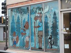 Bullwinkle mural, Two Harbors, Minnesota (Paul McClure DC) Tags: minnesota painting funny cartoon northshore twoharbors lakecounty july2014