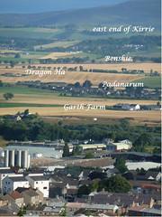 Local Forfar Landmarks Identified - Over Glamis Road towards Kirrie (ronramstew) Tags: scotland angus map farms forfar garth kirriemuir 2014 glamisroad benshie padanarum 2010s garthfarm dragonha