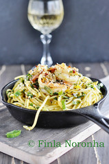 Pasta with Scampi,Lime and Saffron (Finla Noronha) Tags: dinner lunch blog wine prawns pasta garlic seafood recipes lime saffron scampi seafoodrecipes mykitchentreasuresblog pasdtadishes pastawithscampilimeandsaffron