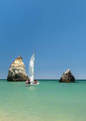 Becalmed (Raggedjack1) Tags: sailing calm atlantic sail algarve alvorbeach summersea