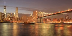 Brooklyn Bridge (elena.maggioni8) Tags: nyc newyorkcity bridge sky ny newyork night lights brooklynbridge brooklin newyorkbynight newyorkatnight