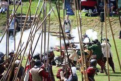 Re-enactment of the Battle of Rowton Heath (NTG's pictures) Tags: new english history century john army living model war battle knot chester civil heath pikes muskets sir reenactment siege musketeers 17th gells sealed royalists regiment the cavaliers rowton parliamentarians foote roundheads manchesters