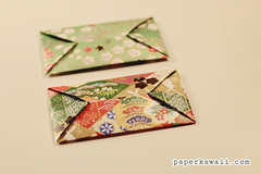 Easy Origami Envelopes (paperkawaii) Tags: cute make paper japanese diy origami pretty craft gift howto kawaii instructions fold tutorial folding papercraft