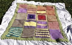 Ruth Hammond (The Crochet Crowd) Tags: mikey yarn blanket afghan cathy redheart challenge throw supersaver crochetsquares crochetchallenge thecrochetcrowd michaelsellick freeafghanpattern freecrochetvideos stitchcation