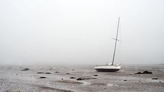 Tobermory (Nathan.Donoghue) Tags: fog landscape boat newbrunswick land bayoffundy standrews tobermory grounded