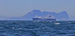 Airbus A380 (tony.evans) Tags: sea rock ferry plane marine ship dolphin vessel container bunker dolphins catamaran airbus a380 gibraltar tanker levante straitofgibraltar bayofgibraltar straitride yachtbunkering britishairwaysstraitride