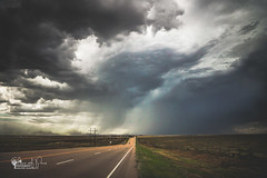 Followed (Chains of Pace) Tags: road storm oklahoma clouds rural unitedstates perspective prairie panhandle guymon