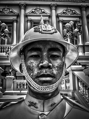 THAI GAURD HDR (David Joyce 581) Tags: people bw thailand military hdr