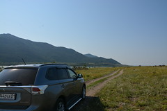 outlander (nikita_novozhilov) Tags: auto trip travel trees mountain 3 nature water car kazakhstan mitsubishi kz kaz  outlander         burabay borovoe   burabai