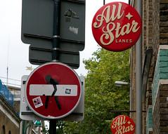 Clet Abraham, London (Renato Morselli) Tags: uk england london art arte londra regnounito cartelli divieto 2014 cletabraham