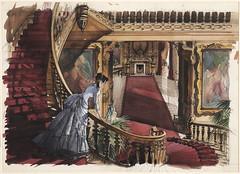"""""""Όσα παίρνει ο άνεμος"""" 75 χρόνια μετά... Ζωγραφισμένο στο χέρι ένα προσχέδιο της σκηνής με τη Σκάρλετ Ο'Χάρα"""