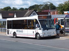 McEwens MX07BBZ Alfreton (Guy Arab UF) Tags: bus buses station derbyshire independent solo roberts mcewens optare alfreton bakerbus m780se mx07bbz