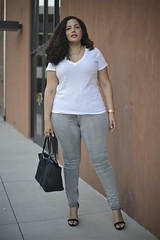 Denim Update (GirlWithCurves) Tags: girl with curves curlyhair plussizefashion plussizeblog taneshaawasthi