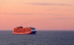 photo - Sunset in the Atlantic (Jassy-50) Tags: ocean sunset water boat photo ship atlantic norwegian cruiseship atlanticocean breakaway norwegiancruiselines cruiseline norwegianbreakaway bermudanyc2014