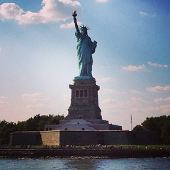 Awesome visit to #StatueOfLiberty & #EllisIsland yesterday in #NYC with Emily, Eddie, Gayle and the parents!