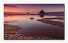 Golden Ripples (hazarika) Tags: sunset oregon cannonbeach haystackrock sandripples canon50d canon1635mmf28liiusm