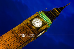 London Big Ben (david gutierrez [ www.davidgutierrez.co.uk ]) Tags: city uk longexposure travel blue light sky urban london tower art clock westminster architecture night clouds photography 50mm noche perspective housesofparliament parlia