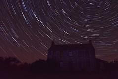 MacDonald Farm Historic Site (Mirfish) Tags: sky night star trails startrails miramichi