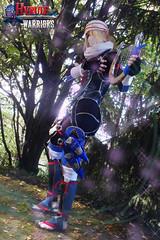 Minuet of Forest (DrosselTira) Tags: blue costume outfit smash play time cosplay ninja nintendo version super queen zelda warriors cosplayer legend sheik loz ocarina hw hyrule hyrulewarriors