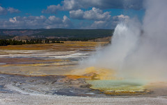Midway Geyser basin (Flickr_Rick) Tags: autumn outside roadtrip yellowstone 2014
