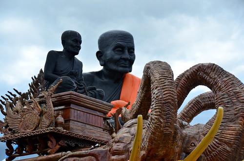 Peeking At The Big Buddhist Monk