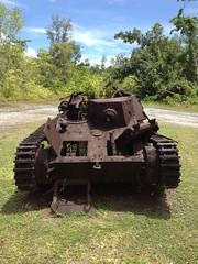 Destoryed Japanese Ha-Go 8 (devonpike) Tags: world 2 japanese war fighter tank pacific wwii american ww2 bomb zero palau sherman uxo tanks peleliu hago angaur arisaka